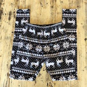 🌟2 for $10!! Black and white Christmas Leggings